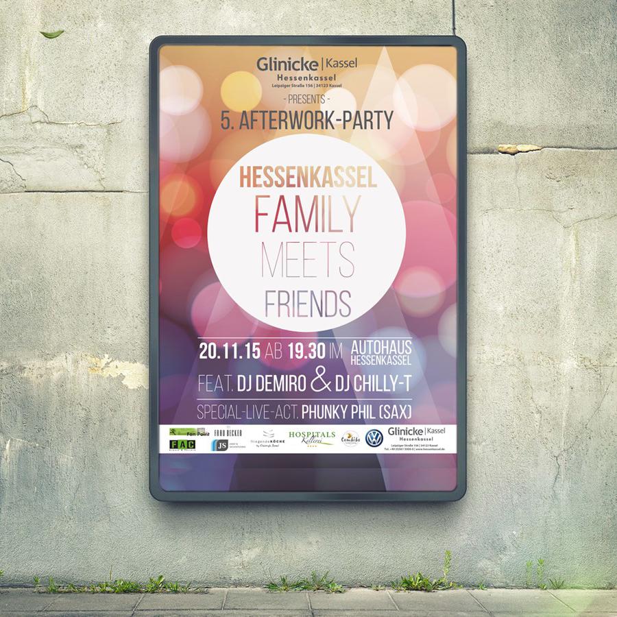 Glinicke AfterWork-Party / Design & Print