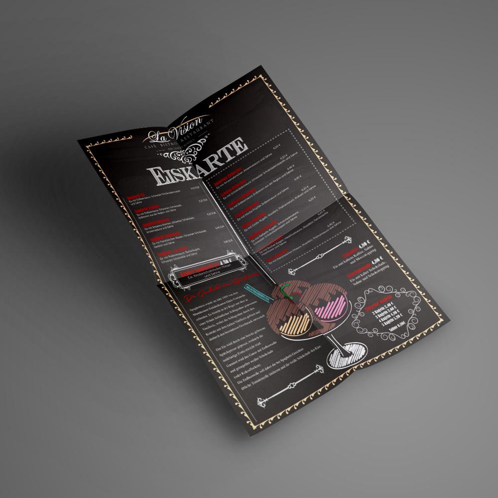 La Vision Eiskarte / Design & Print